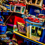 Fishing Digital Art Framed Prints - Fishing Fleet Framed Print by Chris Lord