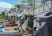 Fishing Boats Originals - Fishing Fleet by Michael Thomas