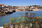 Harbor Photos - Fishing Traps by Carlos Caetano