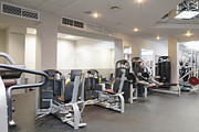 Treadmill Prints - Fitness Center Equipment Print by Magomed Magomedagaev