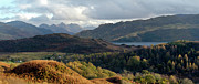 Sisters Framed Prints - Five Sisters from above Loch Alsh Framed Print by Gary Eason