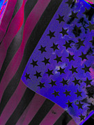 Usa Prints Digital Art Prints - Flag Lady Print by J Burns