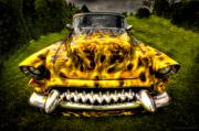 Antique Automobiles Photos - Flames One by Jerry Golab