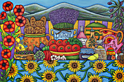Calisson Prints - Flavours of Provence Print by Lisa  Lorenz