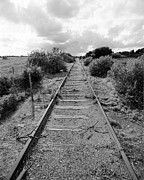 Train Tracks Photo Originals - Flight Path by Jan Faul
