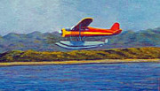 Plane Paintings - Float Plane by Harold Kirby