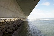 Dike Prints - Flood Barrier, Netherlands Print by Colin Cuthbert