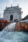 Flooding Photos - Flood Defences, Venice by Volker Steger