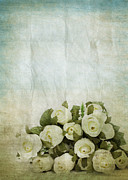Torn Metal Prints - Floral Pattern On Old Paper Metal Print by Setsiri Silapasuwanchai