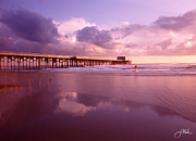 Hours Painting Prints - Florida Gold Coast Pier Print by Joshua Miller