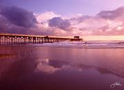 Florida Gold Coast Pier Print by Joshua Miller