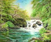 Flow Gently Print by Vanda Luddy