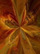 Posters On Digital Art - Flower Burst by Brad Robertson