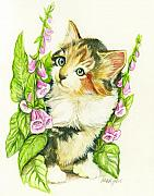 Fitzsimons Art - Flower Kitten by Morgan Fitzsimons