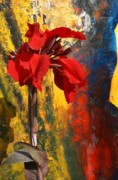 Canna Mixed Media - Flowers And Art by Geegee W