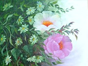 Decorativ Paintings - Flowers by Renate Behr