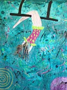 Annette Mcelhiney Paintings - Flying Without a Net by Annette McElhiney