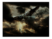Storm Digital Art Originals - Flying Zone 2012 by Peter Szabo
