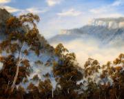 Landscapes Reliefs - Fog Below The Escarpments by John Cocoris