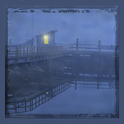 Shack Prints - Foggy pier Print by Jim Wright