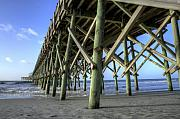 Lowcountry Prints - Folly Beach Pier  Print by Dustin K Ryan