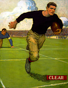 1910s Portrait Posters - Football. A College Football Player Poster by Everett