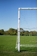 Soccer Field Framed Prints - Football Goal Framed Print by James French