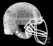 Football Helmets Posters - Football Helmet, X-ray Poster by Ted Kinsman