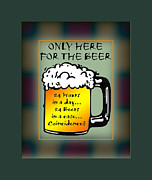 Alchol Framed Prints - For The Beer 1 Framed Print by Daryl Macintyre