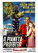1956 Movies Prints - Forbidden Planet, Aka Il Pianeta Print by Everett