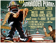 1956 Movies Prints - Forbidden Planet, Left Robby The Robot Print by Everett
