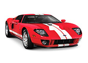 Muscle Car Framed Prints - Ford GT Supercar Framed Print by Oleksiy Maksymenko