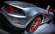 Glass Digital Art Originals - Ford Mustang - BOSS 302 by Gordon Dean II