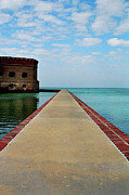 Dry Tortugas Framed Prints - Fort Jefferson Framed Print by Henri Irizarri