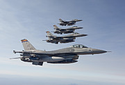 Four People Posters - Four F-16s Fly In Formation Poster by HIGH-G Productions