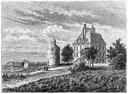 Medoc Metal Prints - France: Wine ChÂteau, 1868 Metal Print by Granger