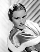 Fur Trim Framed Prints - Frances Farmer, Ca. 1936 Framed Print by Everett