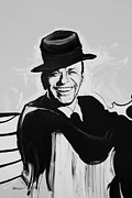 Frank Sinatra Digital Art - FRANK in BLACK AND WHITE by Rob Hans