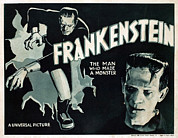 Horror Fantasy Movies Metal Prints - Frankenstein, Boris Karloff, 1931 Metal Print by Everett