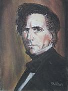 President Pastels Posters - Franklin Pierce Poster by Scott Wilson