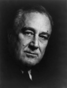 Franklin Painting Posters - Franklin Roosevelt Poster by War Is Hell Store