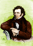 Liturgical Prints - Franz Peter Schubert, Austrian Composer Print by Omikron