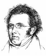 Sideburns Metal Prints - Franz Schubert (1797-1828) Metal Print by Granger