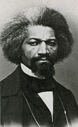 Abolition Movement Metal Prints - Frederick Douglass, African-american Metal Print by Photo Researchers