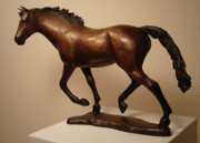 Equine Sculpture Sculptures - Free Spirit by Lisbeth Sabol