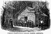 Freedmen Framed Prints - Freedmen School, 1868 Framed Print by Granger
