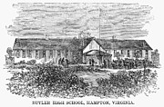 Bureau Prints - Freedmens School, 1868 Print by Granger