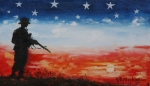 Soldier Paintings - Freedom by Suzanne  Frie