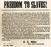 Abolition Metal Prints - Freedom To Slaves Metal Print by Photo Researchers, Inc.