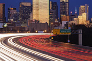 Office Space Framed Prints - Freeway Traffic at Dusk on I-30 Framed Print by Jeremy Woodhouse